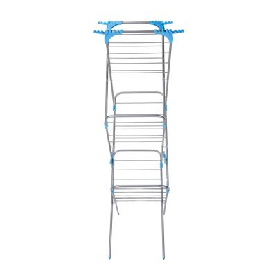 Minky Slimline Airer with Flipouts - Silver