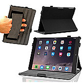 "iPad Air 2 9.7"" Inch Black Leather Multi Stand Case / Cover With Sleep & Wake Function"