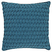 Tesco Textured Pleat Teal Cushion