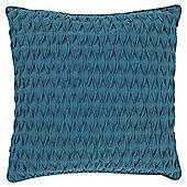 Tesco Textured Pleat Teal Cushion