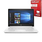 """Certified Refurbished HP 14-bp056sa 14"""" Laptop Intel Celeron N3060 4GB 64GB Windows 10 with Internet Security - 2KG77EA#ABU"""