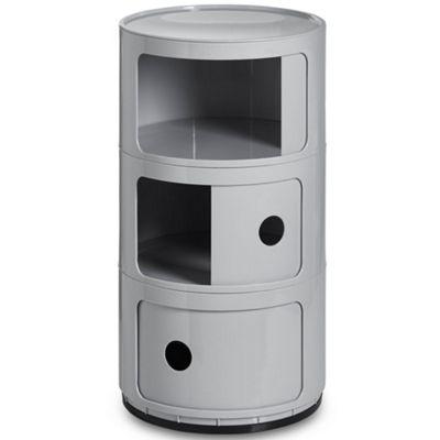 3 Tier Plastic Storage Unit - Versatile Modular Design – Modern Grey