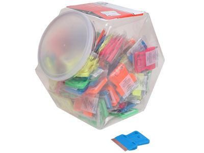 Personna Neon Plastic Mini Scraper Jar of 100 Single Blades