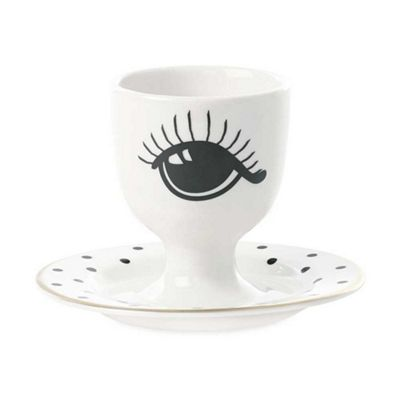 Miss Etoile Egg Cup Ceramic Eyes Open & Closed