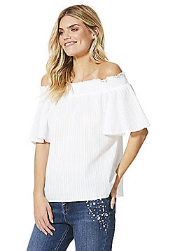 F&F Bardot Top - White