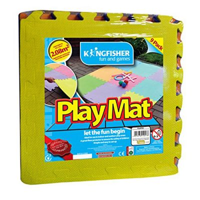 Kingfisher Large 9pc Play Mat