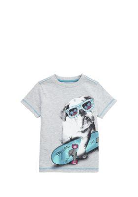 F&F Too Cool Bulldog T-Shirt Grey 12-18 months