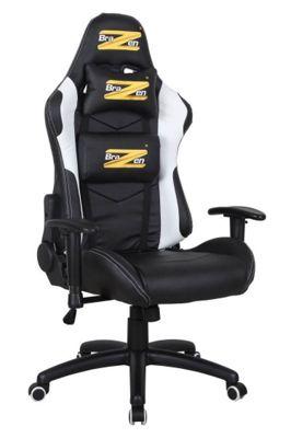 BraZen Shadow PRO Gaming Chair - Bck/Wht