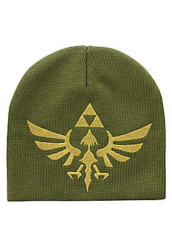 Nintendo Legend Of Zelda Triforce Logo Green Beanie 22.5x22cm - Green