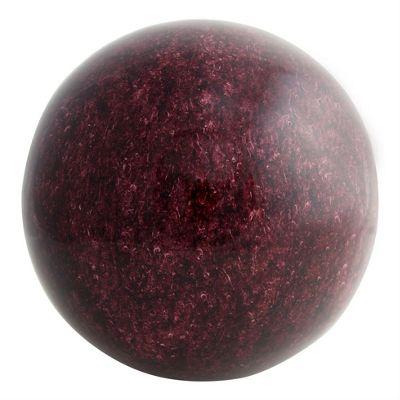 22cm Dark Red Granite Effect Stainless Steel Garden Sphere Ornament