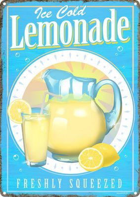 Ice Cold Lemonade Tin Sign