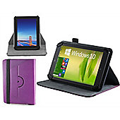 Navitech - Purple Faux Leather Case Cover With 360 Rotational Stand For The Samsung Galaxy Tab A 10.1 / A 9.7 / S2 9.7 / TAB 4 10.1 / TAB A 2016
