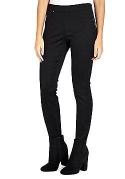 Wallis Petite Side Zip Trousers - Black