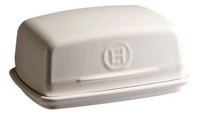 Emile Henry Ceramic Butter Dish in Clay Cream Argile EH020225