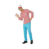 Where's Wally? Adult Fancy Dress Costume - Red