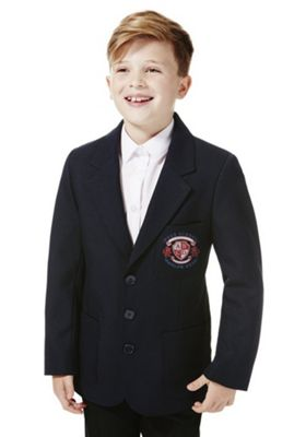 Boys Embroidered Blazer 8-9 years Navy