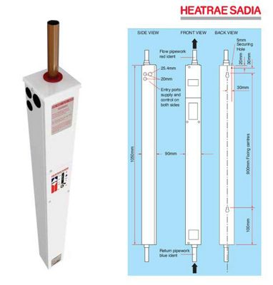 Heatrae Sadia Amptec Electric Boiler 12kW U1201 Underfloor Heating Model