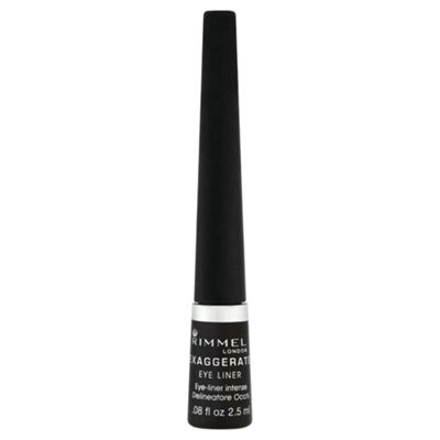 Rimmel Exaggerate Liquid Eyeliner 100% Black