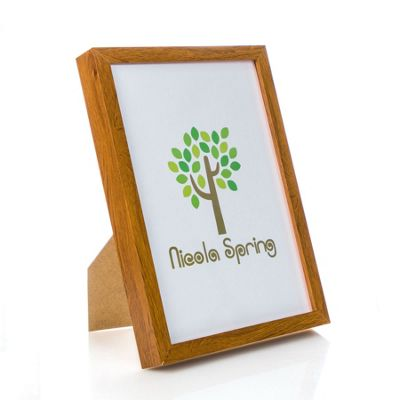 Nicola Spring Acrylic Box Photo Frame - Dark Wood - 8 x 12