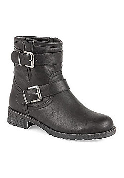 Pavers Ankle Boot with Buckles Black - 2 - Black