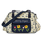 Pink Lining Blooming Gorgeous Changing Bag (Navy & Cream Boats)