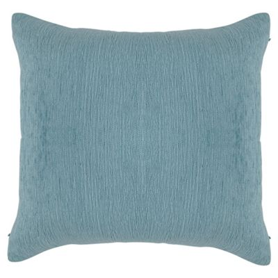 Tesco Plain Chenille Cushion, Duck Egg