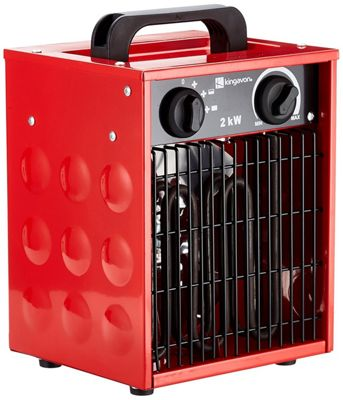 Kingavon 2Kw Industrial Workshop Space Fan Heater Electric Fire with Various Heat Settings
