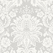 Superfresco Easy Venetian Paste The Wall Damask Grey Wallpaper