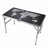 Folding Games Table Black/Silver (2017 Model) - Regatta