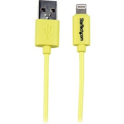 StarTech.com 1m (3ft) Yellow Apple 8-pin Lightning Connector to USB Cable for iPhone / iPod / iPad