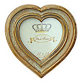 Heart Frame Gold 3 x 3