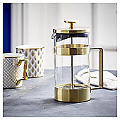 Fox & Ivy Gold 8 Cup Cafetiere