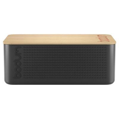 Bodum Bistro Bread Bin / Box with Bread Board, Black