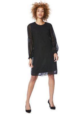 Vero Moda Cuffed Sleeve Dress Black L