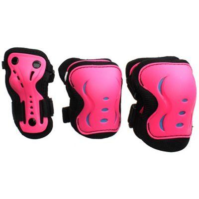SFR Essentials Triple Pad Set - Pink / Black / Blue - Large (age 9-12)