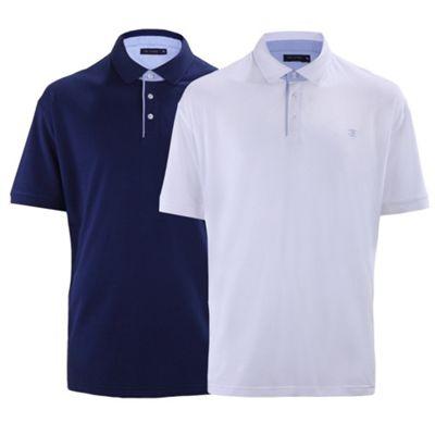 Ciro Citterio Cotton Pique Polo Shirts - 2 Pack S