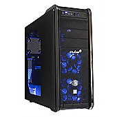 Cube Core i5 VR Ready Blue LED Gaming PC 16GB 2TB Hybrid WIFI GTX1060 3GB Win 10