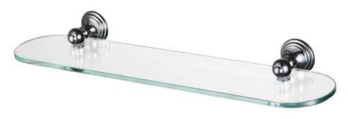 Haceka Allure 60cm Glass Shelf in Chrome