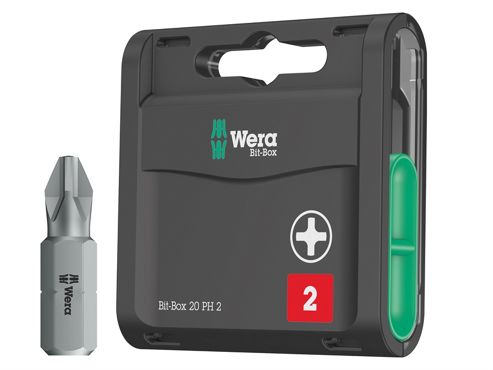 Wera Bit-Box 20 H Extra Hard PH2 x 25mm 20 Piece
