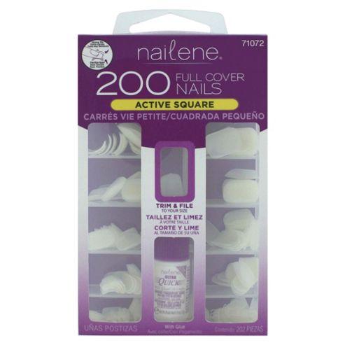 Nailene 200 Artificial Nails - Plain, Active length, Square 71072