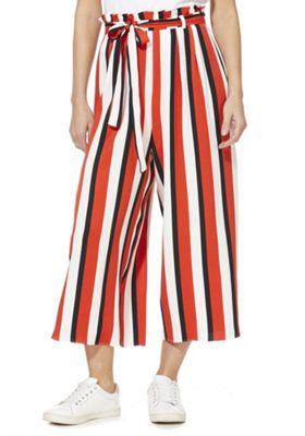 F&F Striped Culotte Trousers Multi 20