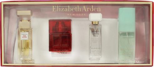 Elizabeth Arden Corporate Holiday Fragrance Gift Set 10ml 5th Avenue EDP Spray + 10ml Red Door EDT Spray + 7.5ml White Tea EDT + 15ml Green Tea Scent