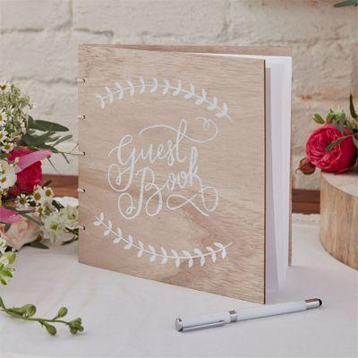 Boho Wedding Wooden Guest Book