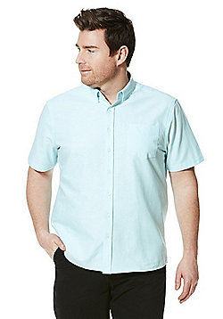 Jacamo Short Sleeve Oxford Shirt - Mint
