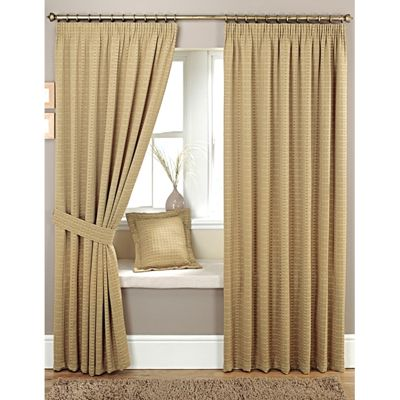 Curtina Marlowe Biscuit Pencil Pleat Lined Curtains - 90x72 inches (229x183cm)