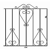 Wrought Iron Style Metal Scroll Garden Gate 99cm GAP x 91cm High