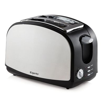Elgento 2 Slice Stainless Steel Toaster Black/Silver