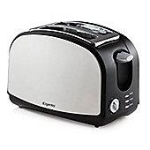 Elgento 2 Slice Stainless Steel Toaster Black/Silver