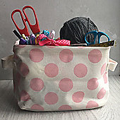 Pink Spot Storage Tub - Small