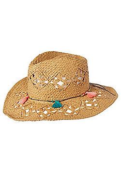 F&F Tassel Trim Cowboy Hat - Sand